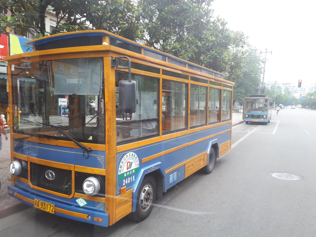 An antique wooden bus, Chengdu, China